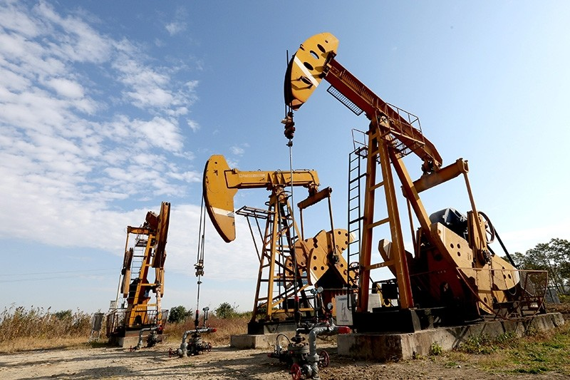 Pumpjacks are seen at an oil field in Huaian, Jiangsu province, China Nov. 11, 2017. (Reuters Photo)