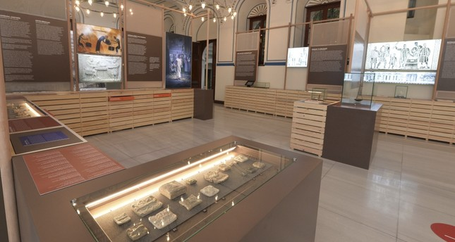 Coins minted by the Lydians are on display at the exhibition.