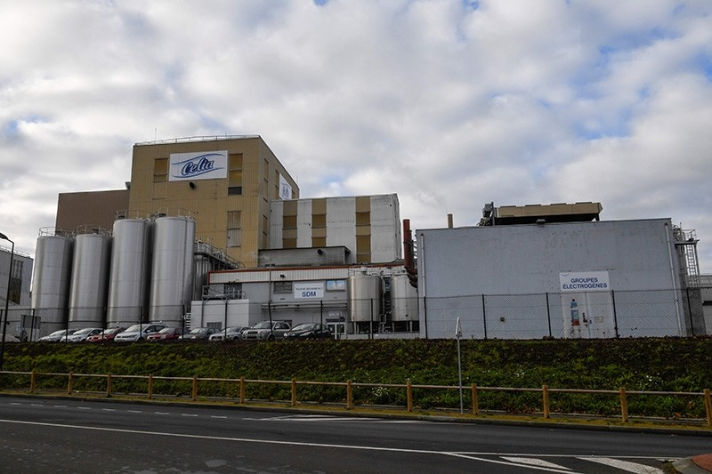 This file photo taken on December 4, 2017 shows the Celia dairy company's infant milk factory that belongs to the LNS Lactalis group in Craon, western France. (AFP Photo)