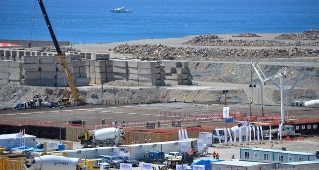 A view of the construction site of Turkey's first nuclear power plant, Akkuyu. AA Photo