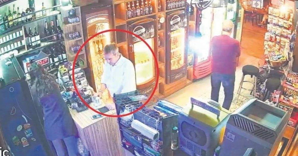 James Le Mesurier shopping at a grocery store about six hours before his body was found, Istanbul, Nov. 10, 2019.