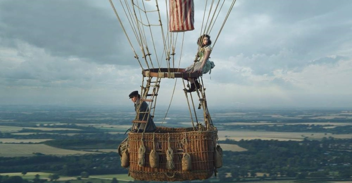 This image shows Eddie Redmayne (left) and Felicity Jones in ,The Aeronauts., ( AP Photo)