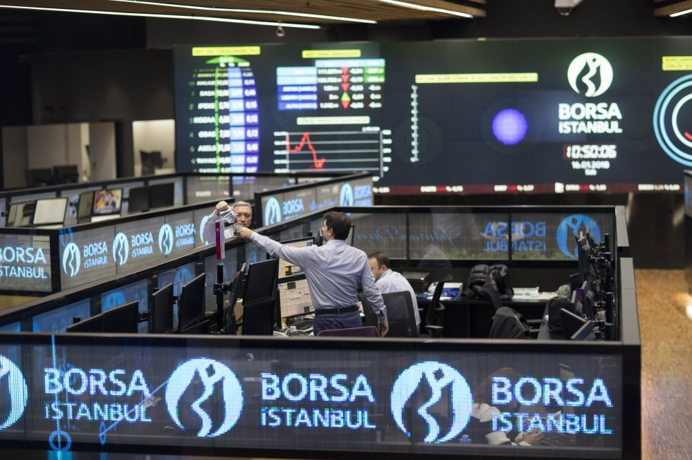 Traders work during the morning session at the Borsa Istanbul Stock Exchange, Istanbul, Turkey, Jan. 16.