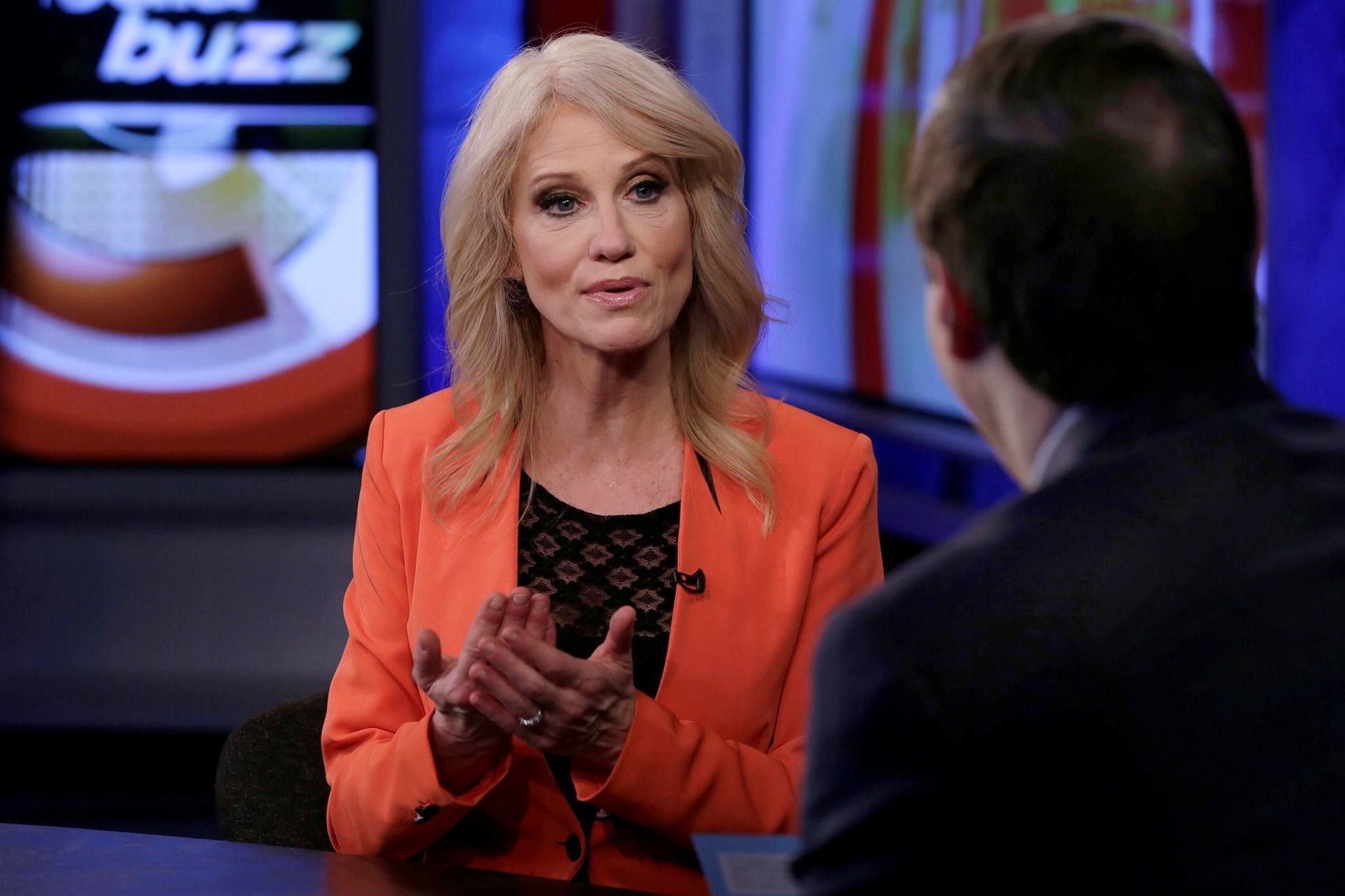 Counselor to the President Kellyanne Conway is interviewed by Howard Kurtz. (AP Photo)