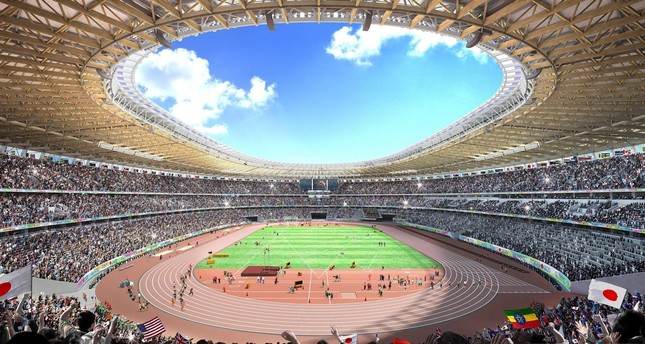 Japan chooses a new, slimmed down 2020 Olympic stadium design, after an earlier version set off a row over a $2.0 billion price tag that would have made it the world's most expensive sports venue. (AFP Photo)