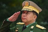 | Archivbild von Oberbefehlshaber Min Aung Hlaing (AFP Foto)