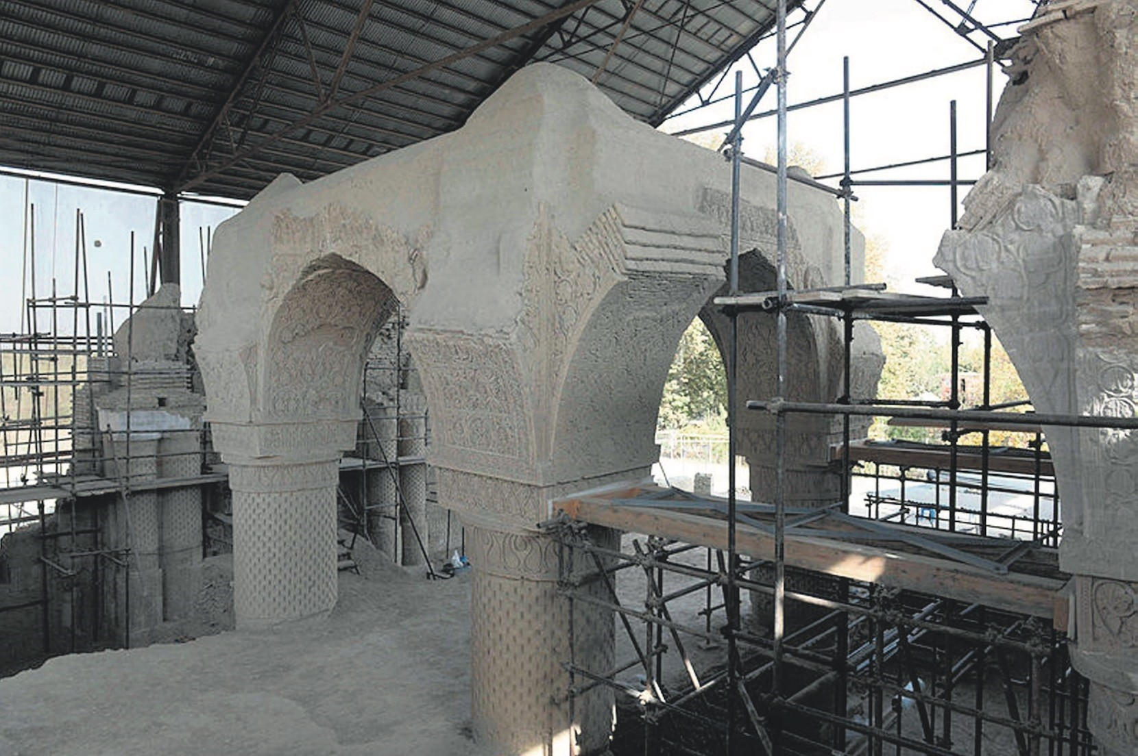 Archeologists and conservationists seek to unravel the secrets of the 9-Dome Mosque, also known as Noh Gonbad in Persian, in Balkh province of Afghanistan.