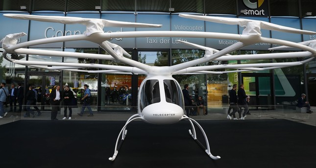 Mercedes Volocopter is displayed during the Frankfurt Motor Show.