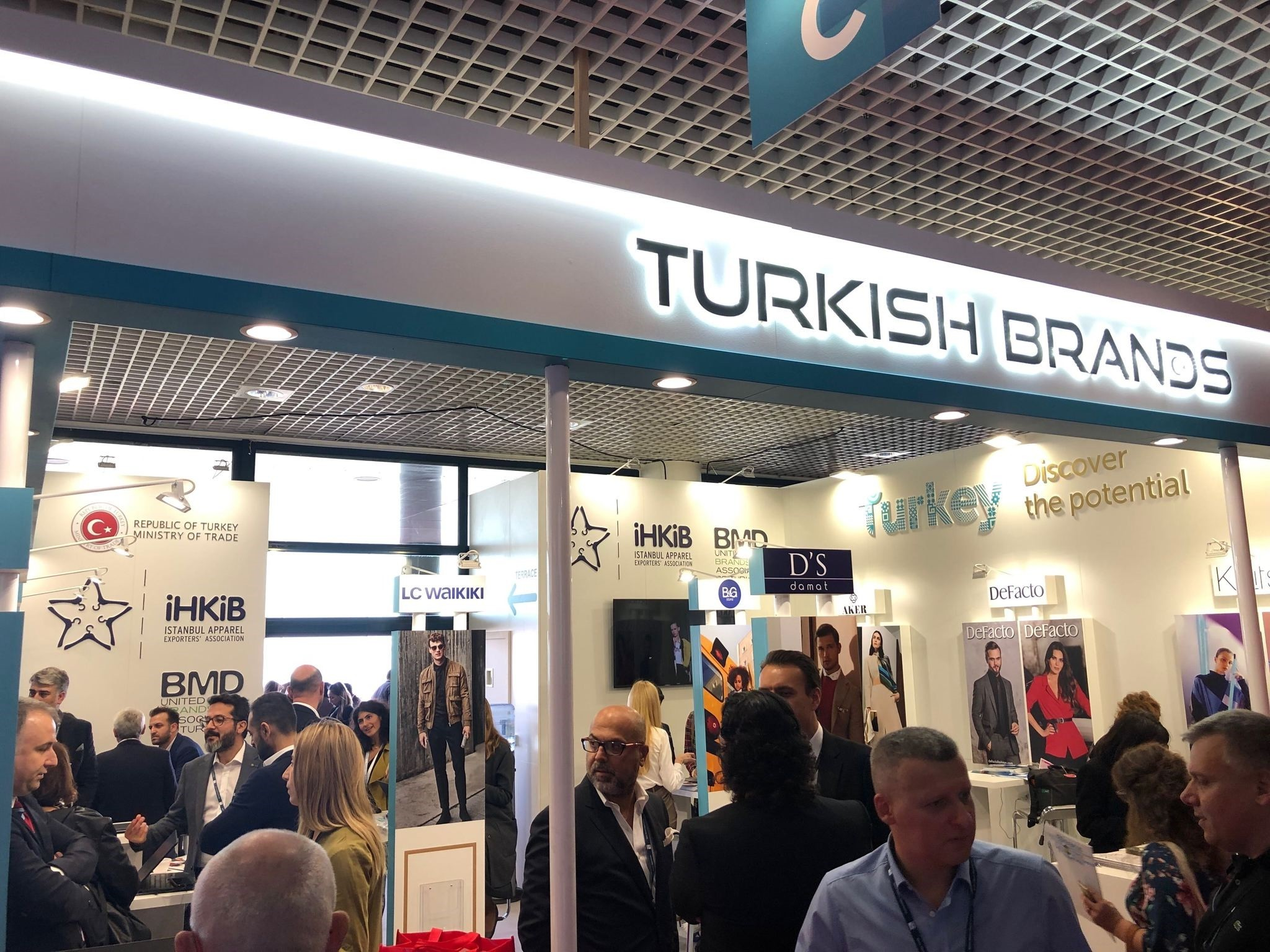 Turkish Brands booth at Mapic '18 in Cannes, France, Nov. 14, 2018.