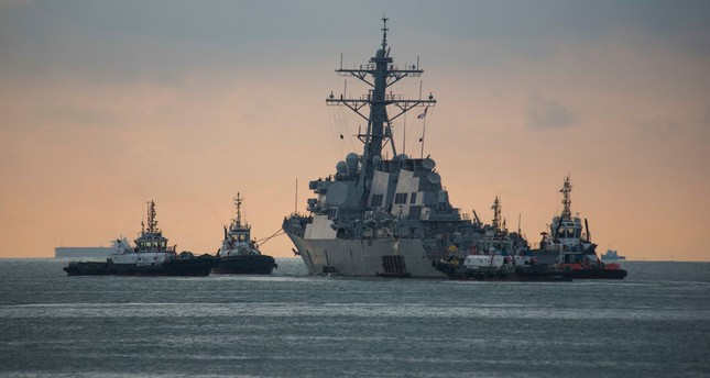 This US Navy photo released on October 5, 2017 shows the Arleigh Burke-class guided missile destroyer USS John S. McCain (DDG 56). (AFP Photo)