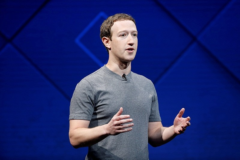 Facebook Founder and CEO Mark Zuckerberg speaks on stage during the annual Facebook F8 developers conference in San Jose, California, U.S., April 18, 2017. (Reuters Photo)