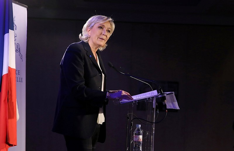 Marine Le Pen, French National Front (FN) political party leader and candidate for French 2017 presidential election, attends a news conference in Paris, France on Jan. 26, 2017. (Reuters Photo)
