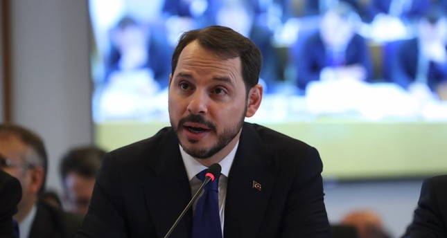 Treasury and Finance Minister Berat Albayrak speaks during his presentation at Parliament's Planning and Budget Commission, yesterday.