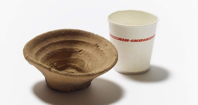 The clay cup will be displayed at the Rubbish And Us exhibition. The British Museum