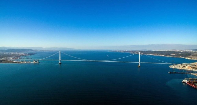 Yavuz Sultan Selim Bridge, the third bridge on the Bosporus connecting Asia and Europe, was inaugurated on Aug. 26, 2016. (?HA Photo)