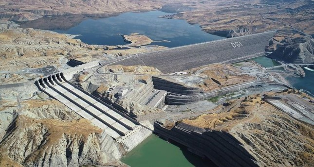 The Il?su Dam, built on the Tigris River, will start hydroelectric power generation in February 2020 and is expected to generate 4.1 billion kilowatt hour electrical power per year. (AA  Photo)