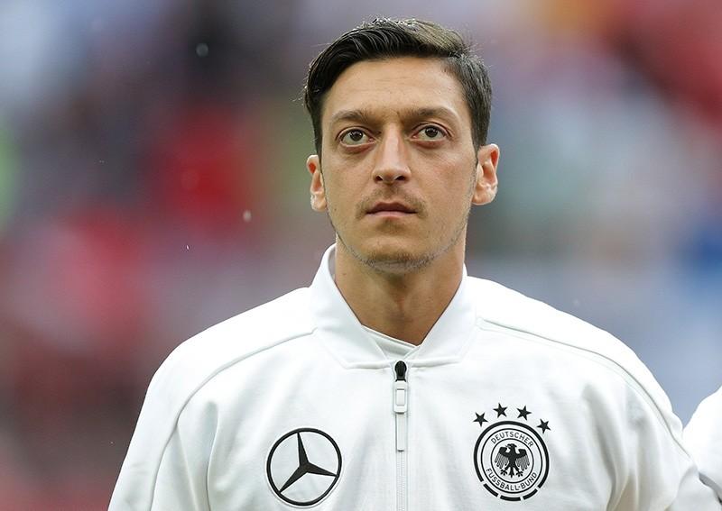 Germanyu2019s Mesut u00d6zil before the match between Austria and Germany in Klagenfurt, Austria, Saturday, June 2, 2018. (Reuters Photo)