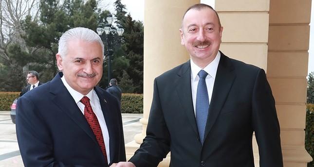 الرئيس الأذربيجاني يستقبل يلدريم في باكو