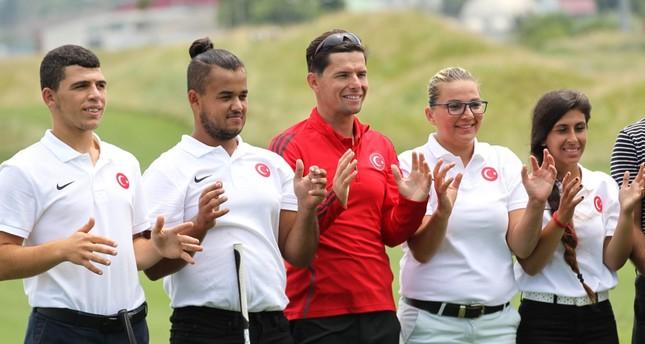 The National Deaf Golf Team is preparing at the Samsun Metropolitan Municipality Golf Club ahead of the 23rd Summer Deaflympics.