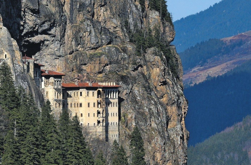 The historical Su00fcmela Monastery located in Trabzon province is one of the most important structures for religious tourism in the world.