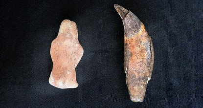 pTurkish archeologists have discovered an approximately 8,600-year-old bear statuette during excavation works in the Yeşilova Mound, in Turkey's western province of Izmir./p