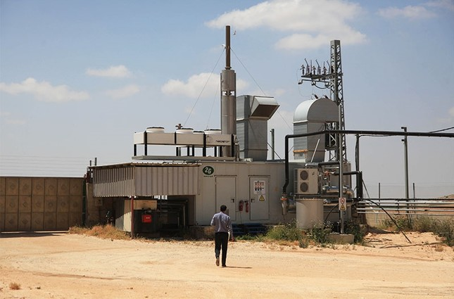 Dairy factory turned to eco-power plant in power-starved West Bank