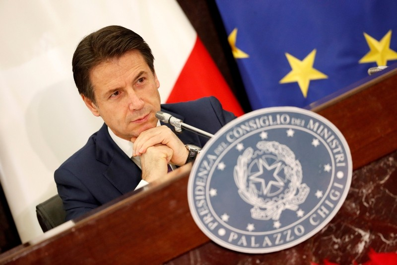 Italy's Prime Minister Giuseppe Conte holds his end-of-year news conference in Rome, Italy, Dec. 28, 2018. (Reuters Photo)