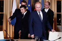 Putin meets Ukraine's Zelenskiy for first time at Paris peace summit