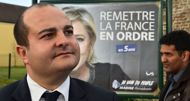 French far-right party Front National (FN) senator, Mayor of Frejus and FN presidential candidate Marine Le Pen's campaign director, David Rachline. (AFP Photo)