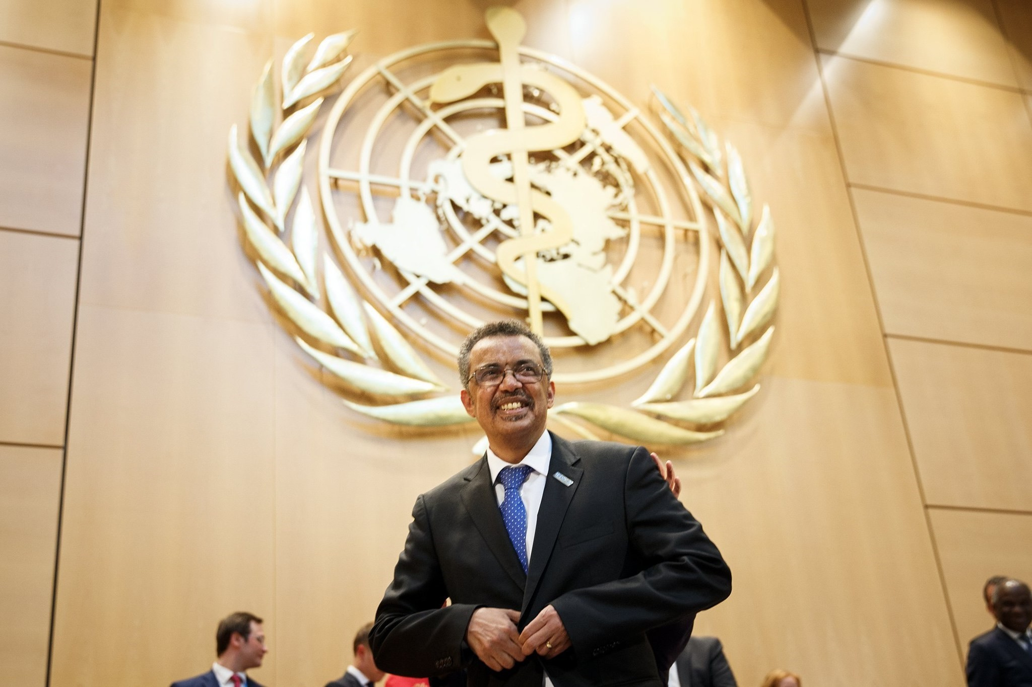 Dr Tedros Adhanom Ghebreyesus newly elected as Director General of the World Health Organization (WHO), smiles to the audience after his election during the 70th World Health Assembly at the European headquarters of the UN. (EPA Photo)