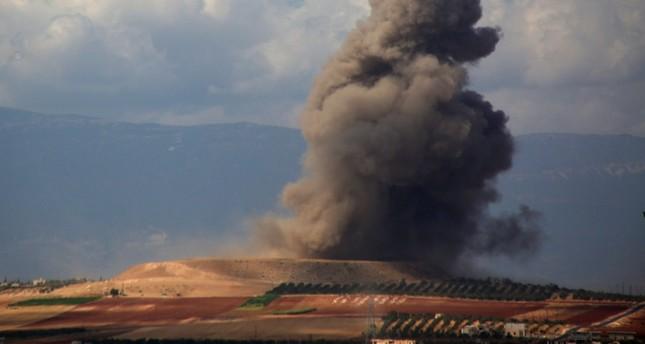 من القصف الروسي السوري على إدلب اليوم الفرنسية
