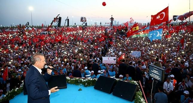 أردوغان: المحاولة الانقلابية الفاشلة أظهرت للعالم كله مدى قوة تركيا وشعبها