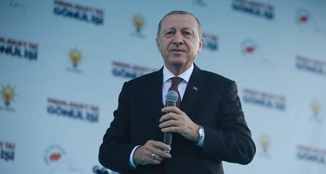 President Recep Tayyip Erdoğan addresses a local audience in southwestern Muğla province, Feb. 22, 2019.