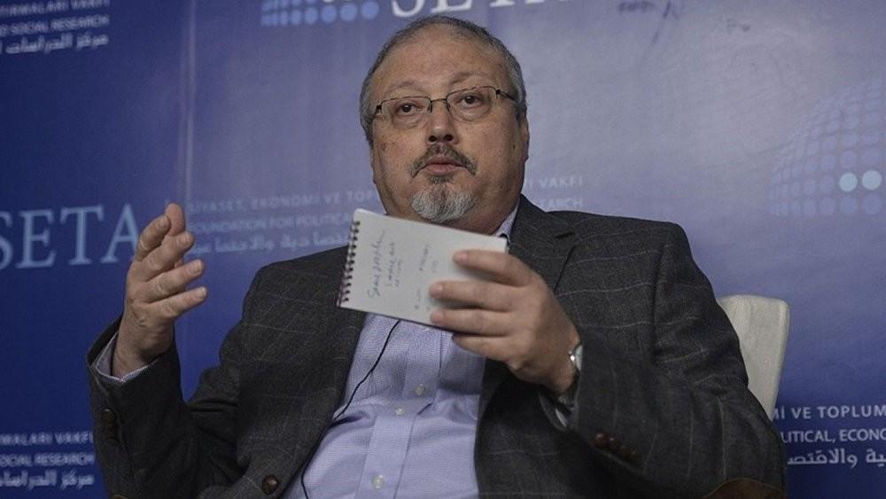 Saudi journalist Jamal Khashoggi speaking in Ankara, Turkey. (AA Photo)