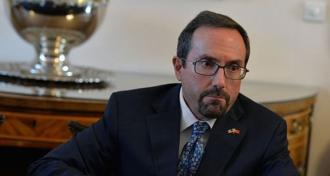 U.S. Ambassador John Bass attends a news conference in Ankara Wednesday after President Erdoğan slammed him for his stance in a number of issues in bliateral ties.