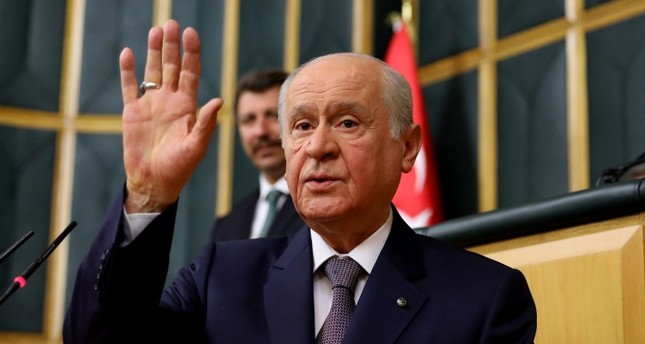 File photo dated April 17, 2018 shows MHP leader Devlet Bahçeli.