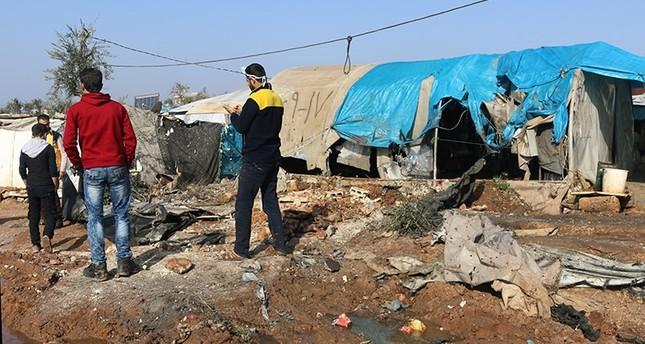 ب ي د الإرهابي يقصف مخيم أطمة الحدودي