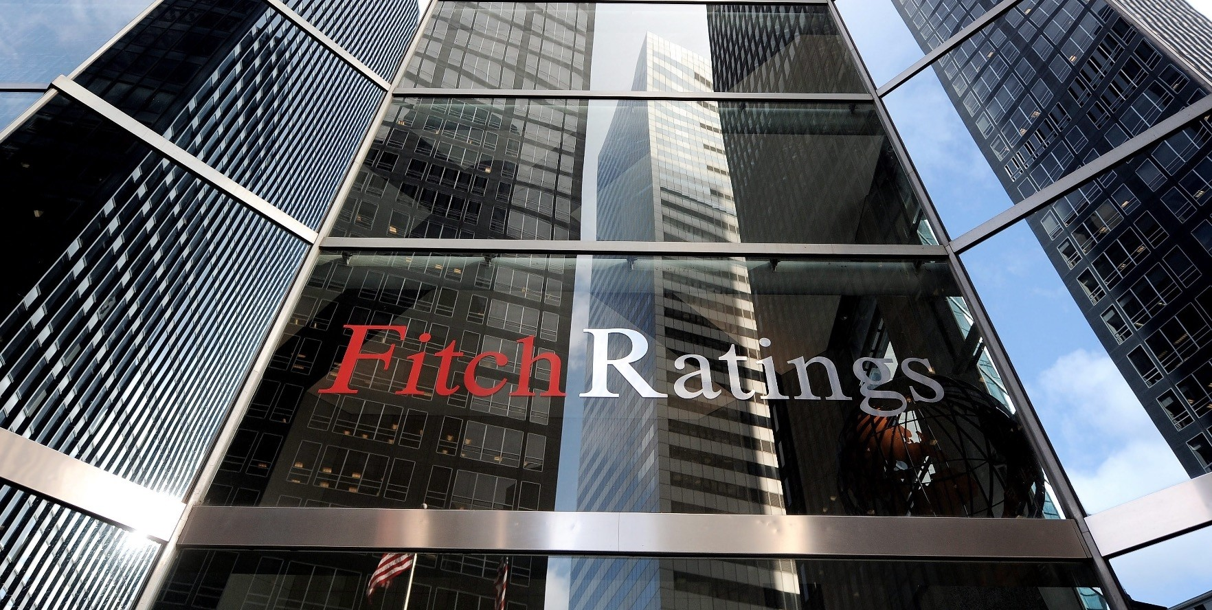 An exterior view of the offices of Fitch Ratings in New York.