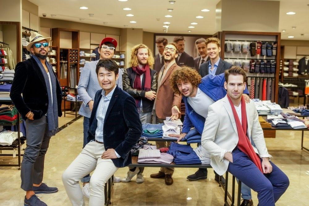 From left to right, Masatako Kobayashi, Antonio, Chaby Han, Robbie Lee-Valentine, Danilo Zanna, Andrey Polyanin, Manuel Reina and Emrach Uskovski.