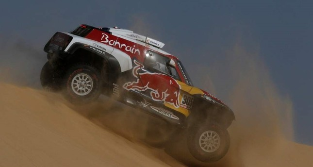 JCW X-Raid Team's Carlos Sainz and Lucas Cruz during stage 10, Shubaytah, Saudi Arabia, Jan. 15, 2020. REUTERS Photo
