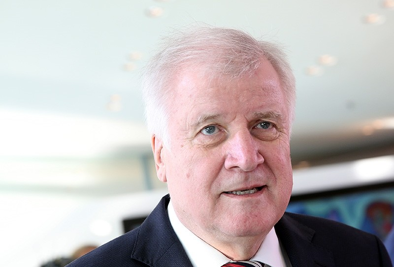 German Interior Minister Horst Seehofer arrives at the beginning of a meeting of the German Federal cabinet at the Chancellery in Berlin, Germany, Oct. 31, 2018. (EPA Photo)