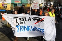 Germans protest against new Tesla gigafactory