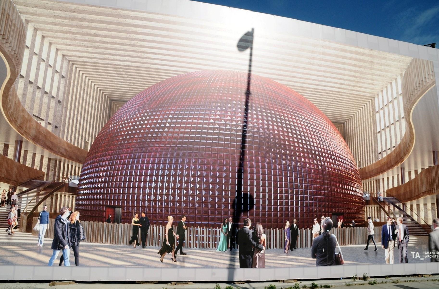 A rendering of the Atatu00fcrk Cultural Center.