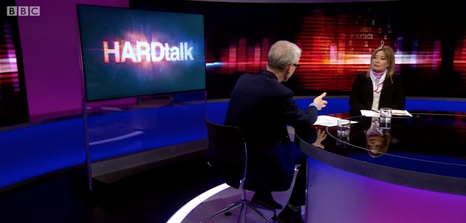 A screengrab from the episode of BBC's HardTalk