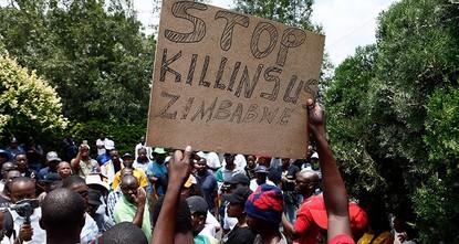 Zimbabwe's president to skip Davos over protests