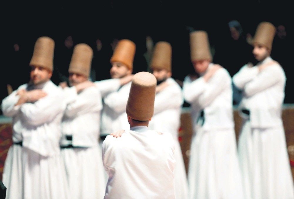 Sufi performers during a commemoration ceremony of late Muslim scholar Mawlana Jalal ad-Din Rumi in his hometown, Konya, Turkey.