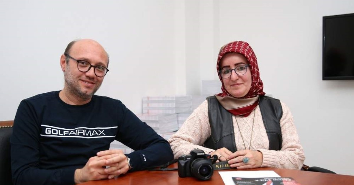 Fatma Sak returned to her job as a journalist alongside her husband ?ener after recovery. (AA Photo)