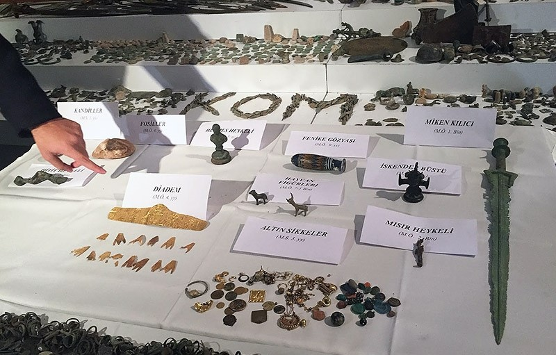 Artifacts confiscated during the operation (DHA Photo)