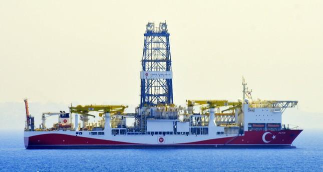 Turkey's first drilling vessel Fatih off the coast of the Mediterranean resort city of Antalya, Oct. 10, 2018.