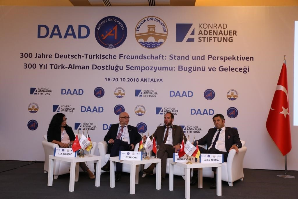 Turkish and German experts speaking at the event